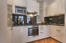 Kitchen in a a one bedroom apartment type 3 in Residence Masna