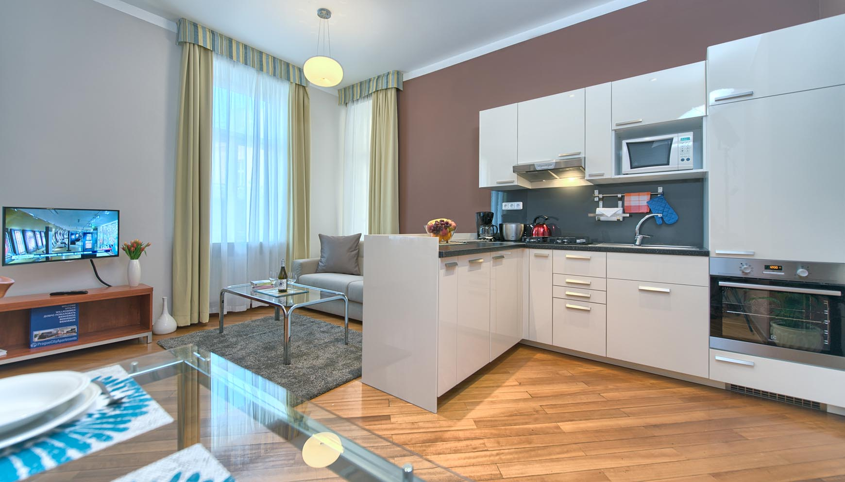 Residence Masna studio apartment type 1 kitchen