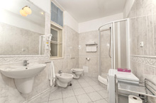 Bathroom in a studio apartment type 2 in Residence Masna